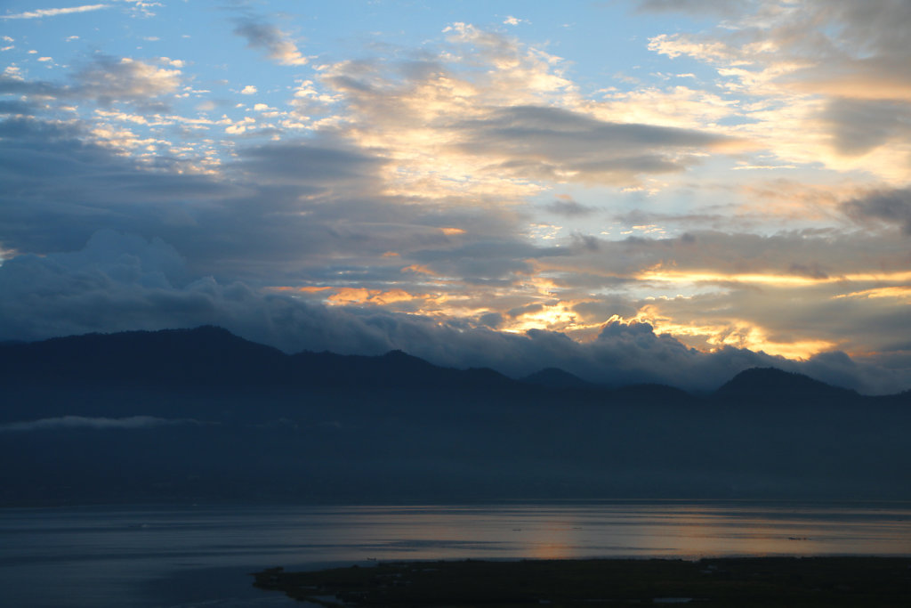 Sunrise over Lake Inle.